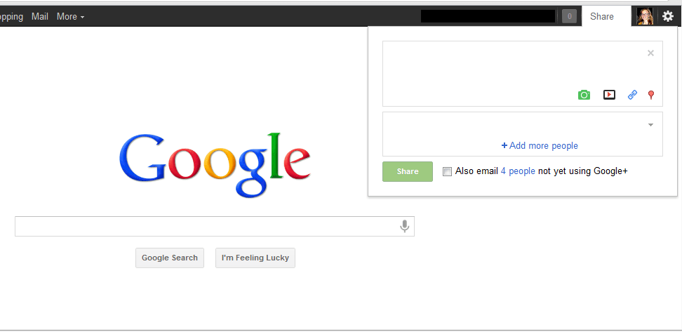 Latest Google+ feature released with 'Share' button on