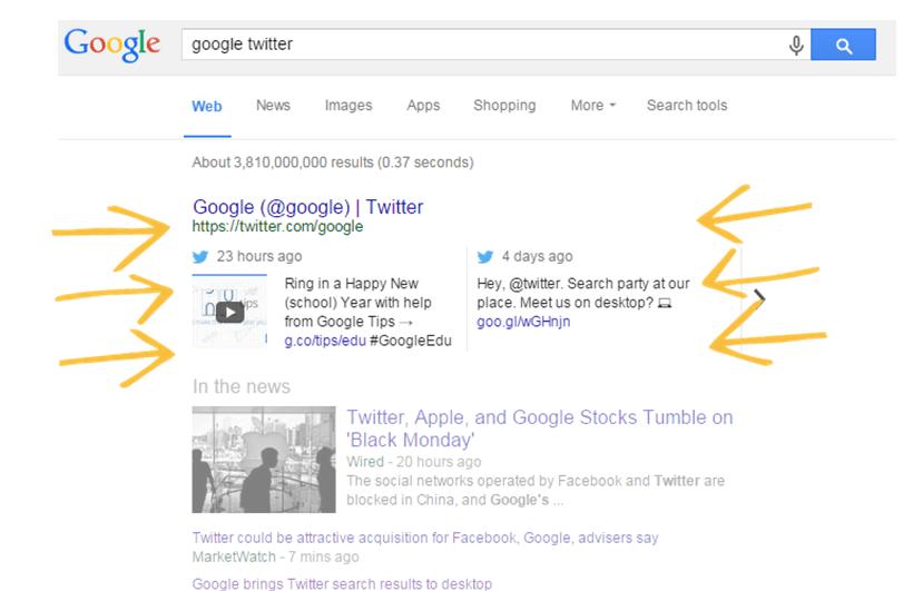 Google & Twitter partnership takes flight as Tweets appear in search results | Brafton