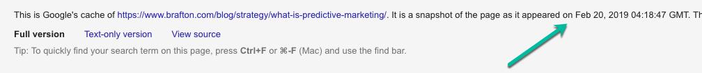 Google's cache