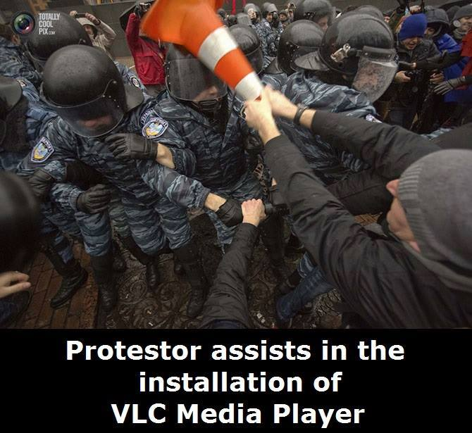 The government and the police department deserve a large amount of VLC installation