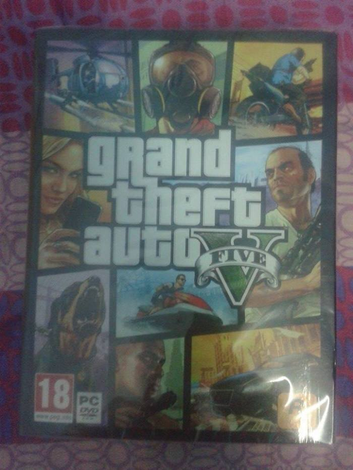 gta v pc grand theft auto dvd cover art pack box