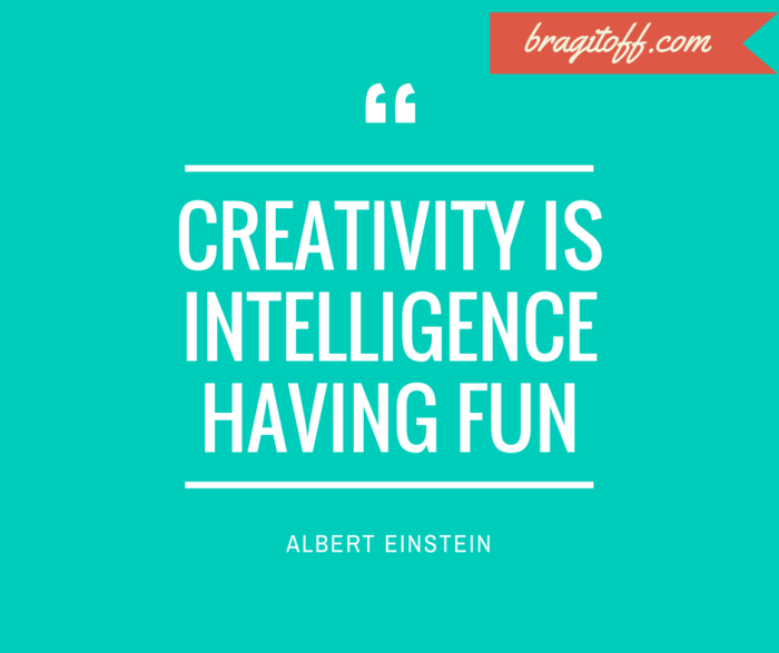 Albert einstein quote on creativity and intelligence