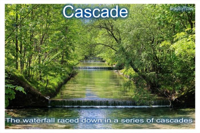 cascade waterfall beautiful scenic scenery cascade definition