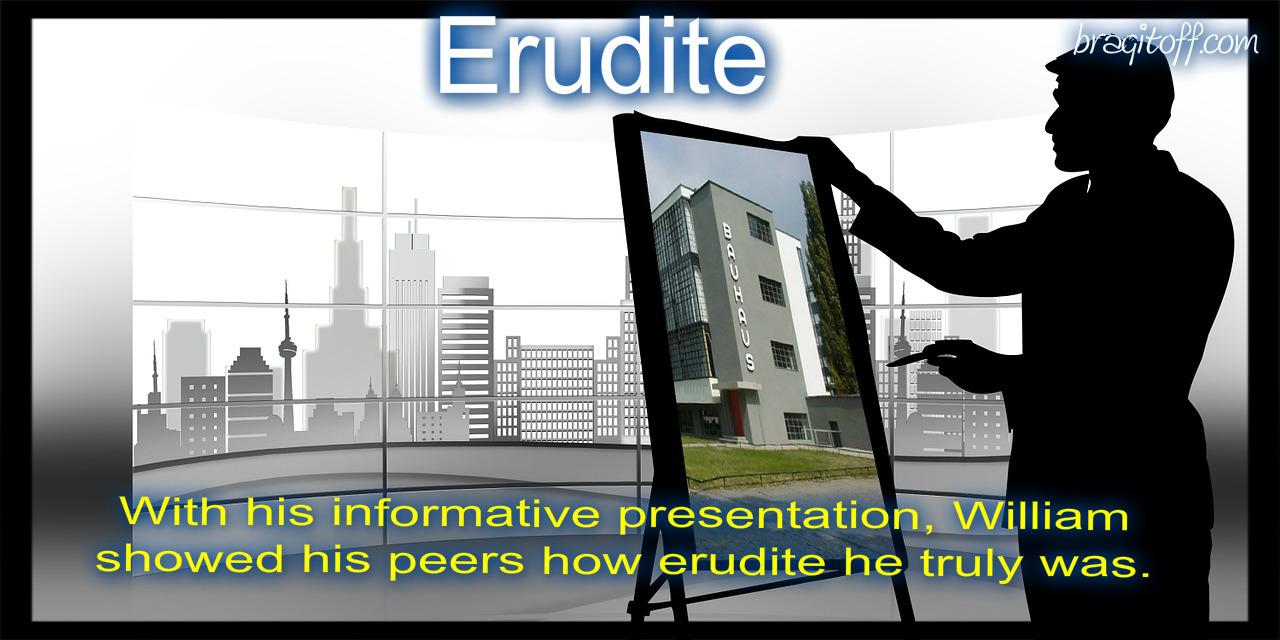 erudite visual definition image meaning sentence