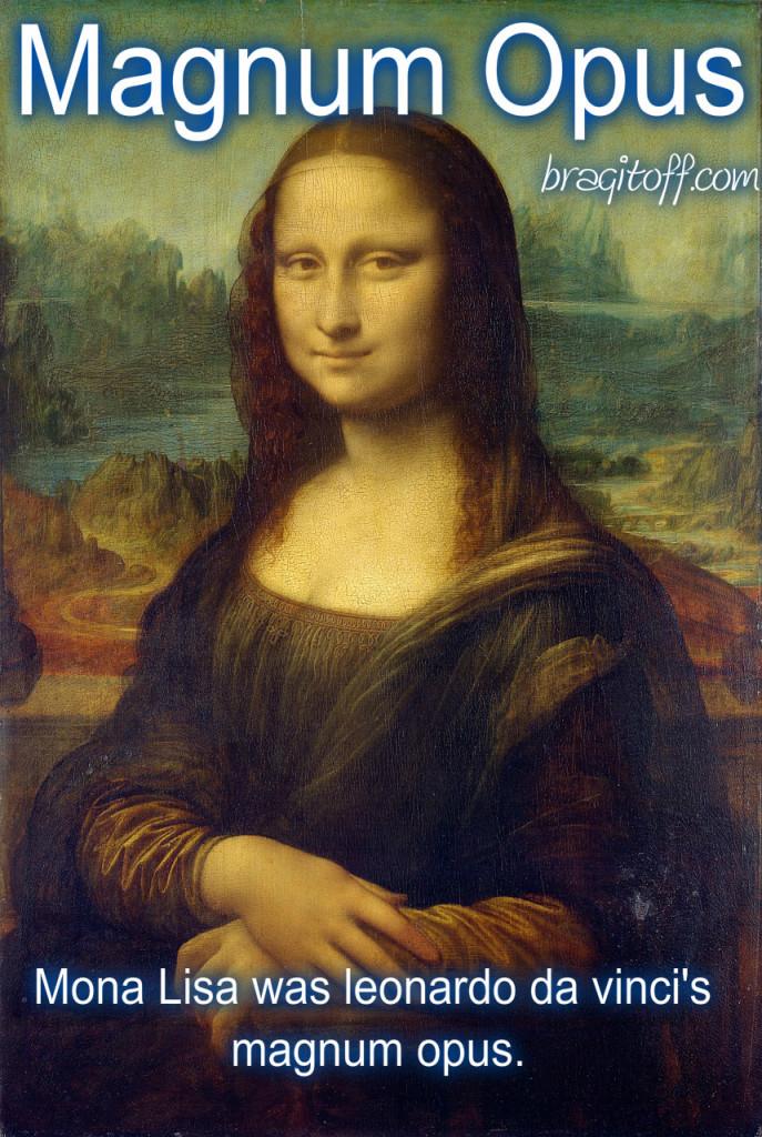 image sentence: Mona Lisa was Leonardo Da Vinci's magnum opus.