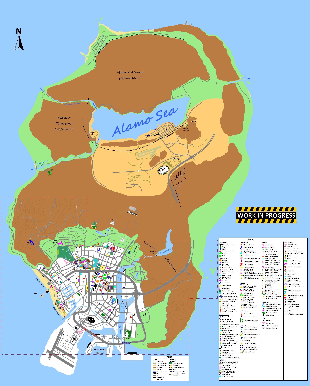 Los santos blaine county labeled map BragitOffcom