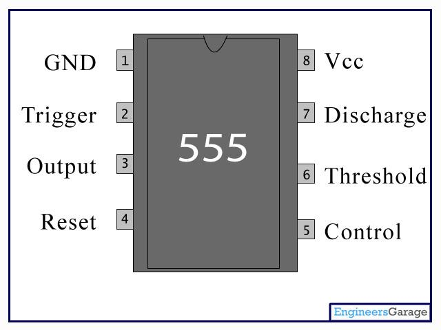 555 Timer Ic 555 Datasheet Ne555 Pin Diagram Engineersgarage