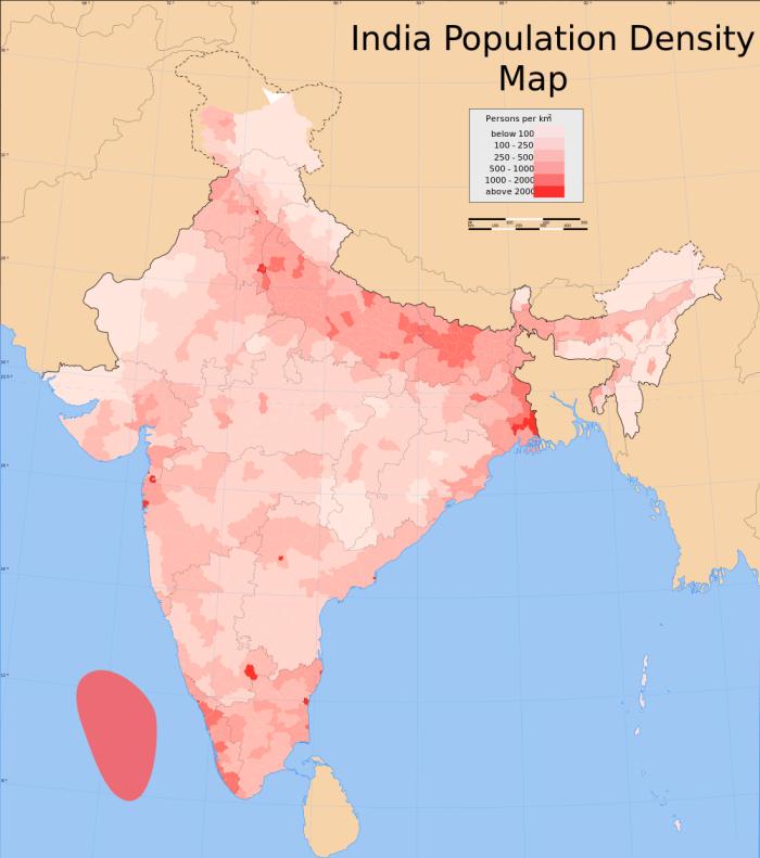 India-Population-Density-Map