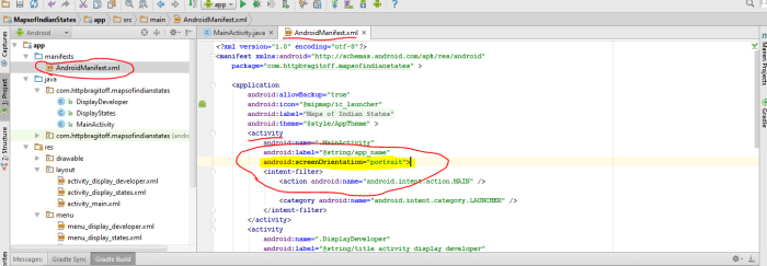 Disabling Landscape Mode using XML