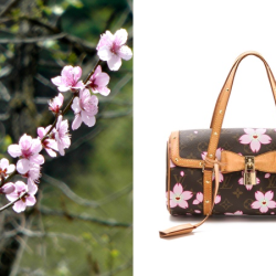 6373b18cf751 Louis Vuitton Purse With Pink Flower Background