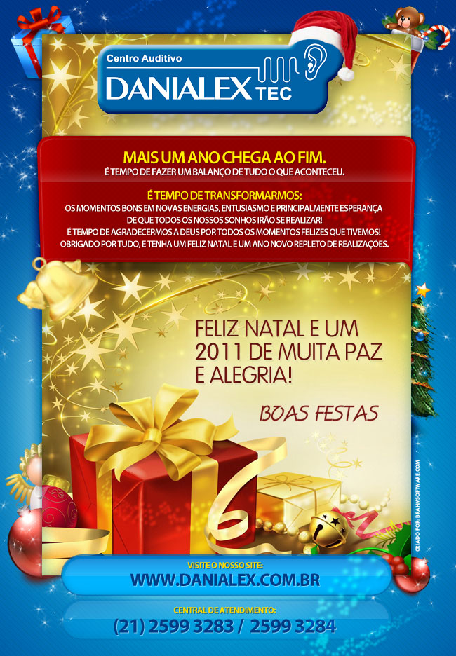 Newsletter DANIALEX TEC de Feliz Natal e Prósspero Ano Novo