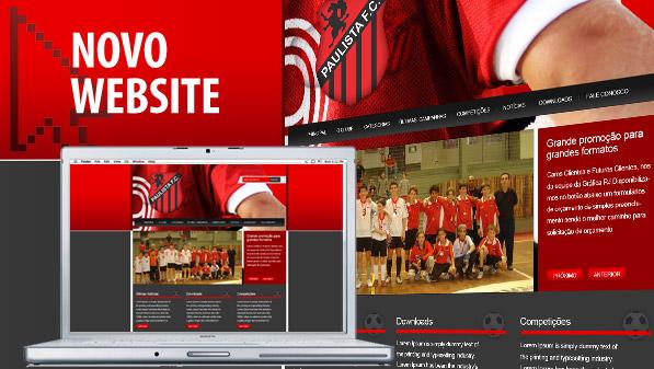 Criação de site Paulista Futebol Clube em Pelotas