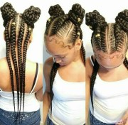 minnie mouse style applied braidings