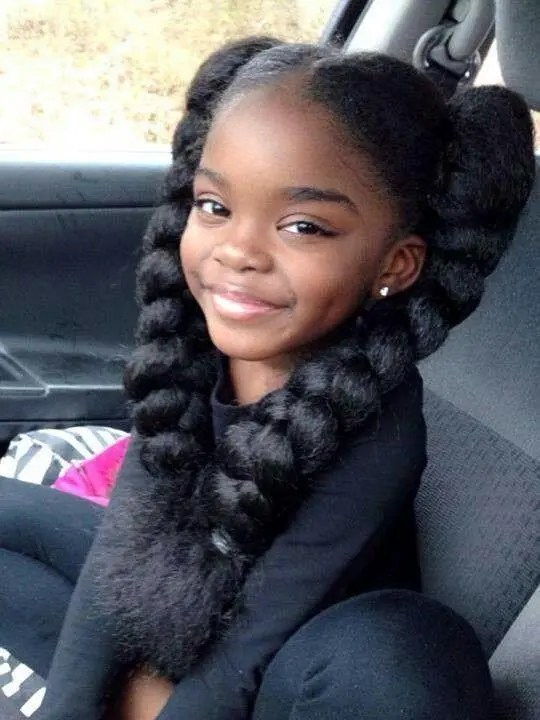 Hairstyle With Big Braids For Your Cute Daughters Braids