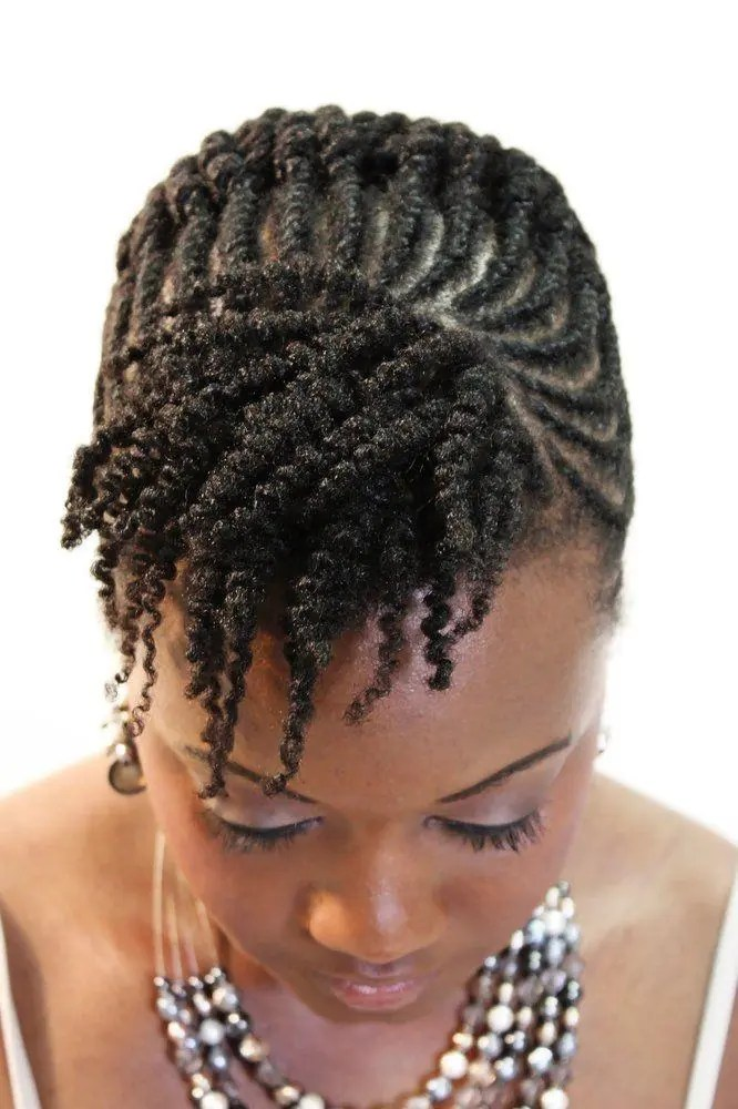 Flat Twist Hairdo For Special Nights Braids Hairstyles For Black
