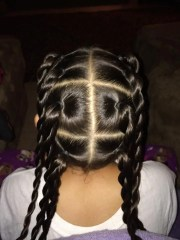 cute braids with natural