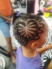 heart cornrow design pure