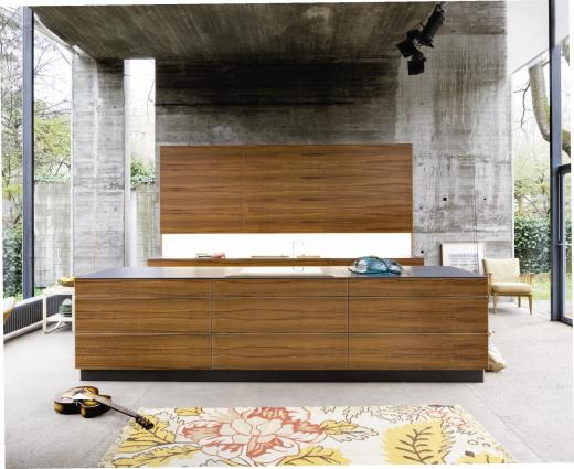 achitektonische Küchenlösung mit edlem Lounge-Charakter
