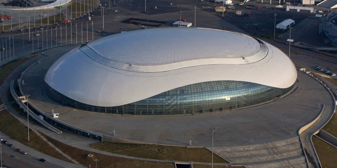 Bolshoy Ice Dome at the Olympic Park in the Adler, Sochi