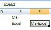 MS Excel Concatenating Text