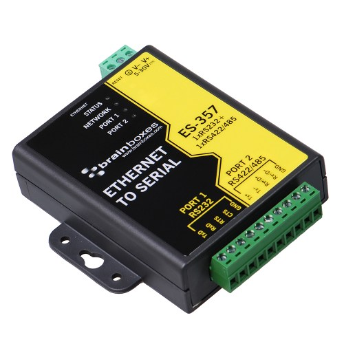 small resolution of 1 port rs232 and 1 port rs422 485 ethernet to serial adapter es 357