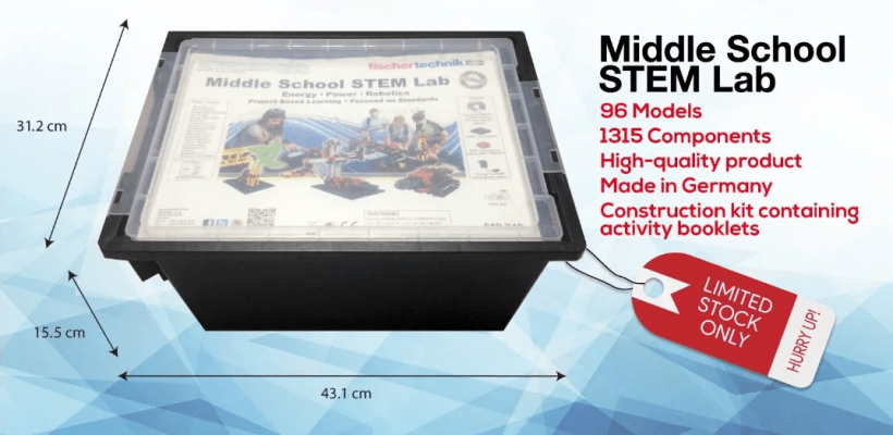 fischertechnik middle school stem lab