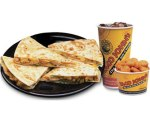 Pico de Gallo and Taco John's Quesadilla