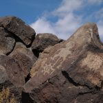 Historic Etches on Stones At Petroglyph National Monument, Albuquerque New Mexico