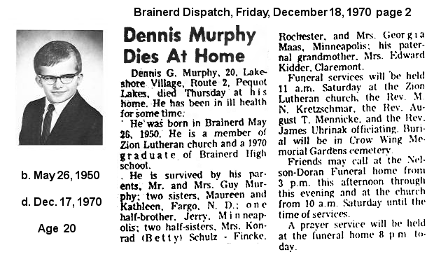 Brainerd High School Class of 1970 :: Departed Classmates