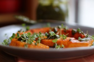 Caramelized Butternut Squash with Pistachio Butter.