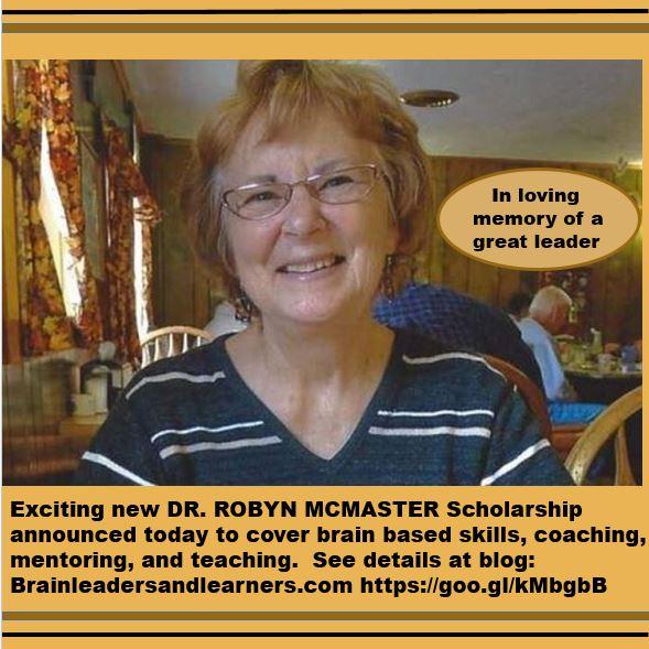 Dr. Robyn McMaster – much loved and valued former Senior VP at Mita International Brain Center