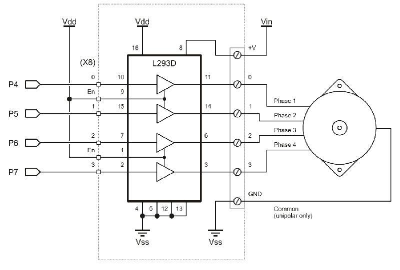 uln2003 stepper motor driver circuit