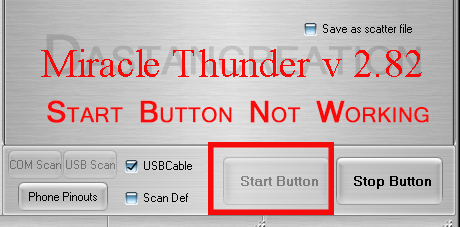 How To Make Miracle Box Start Button Work After It Stops