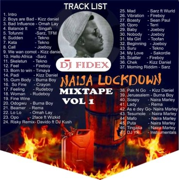 DJ Fidex Naija Lockdown Mix Vol 1 By Brainnews