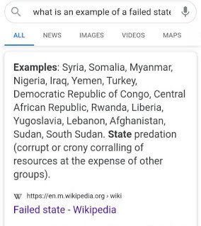 Nigeria Added To List Of Failed States On Wikipedia