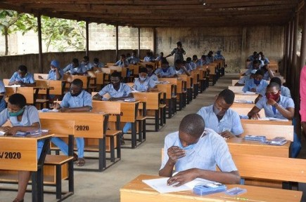See Photos As Nigerian Students Begins Their 2020 WASSCE Examinations