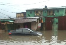 Flood Submerge Lagos State After Saturday Heavy Rain