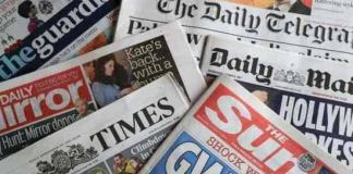 Top Newspaper Headlines This Evening