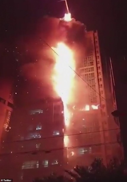 33-Storey Building On Fire In South Korea