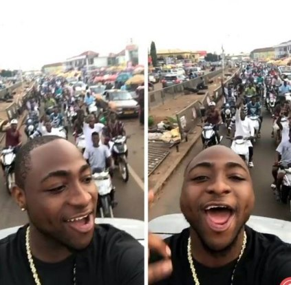 Davido 'Slaps' A Fan For Trying To Take A Selfie With Him In Ghana
