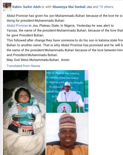 Man Names His Newborn Son 'Buhari' In Honour Of The President