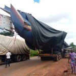 Trailer Transporting Airplane Causes Gridlock For Hours In Edo