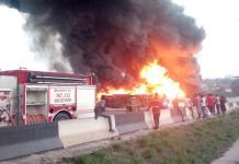 Tanker Explodes At Otedola Bridge