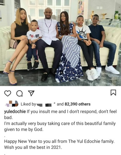 Nollywood Actor Yul Edochie Shows Off His Beautiful Family
