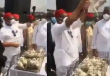 Pigeons Refuses To Fly At The Armed Forces Remembrance Day Celebration In Imo