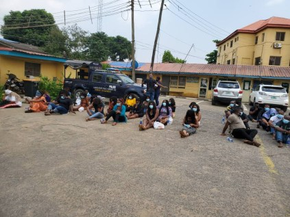 Police Parade 237 Clubgoers Arrested For Violating COVID-19 Protocols In Lagos State