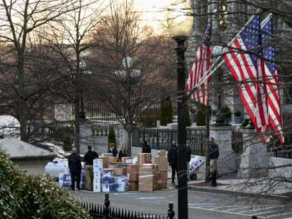 President Trump's Aides Begin Packing Up At White House