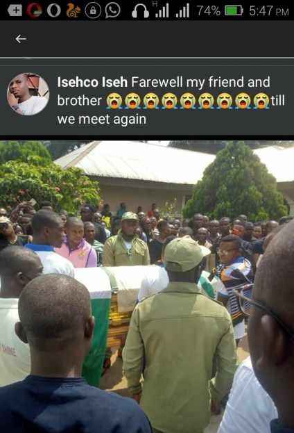 UNICAL Graduate Who Died While Serving In Ebonyi State Buried
