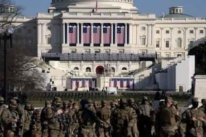 Washington DC In Security Lockdown Over Biden's Inauguration