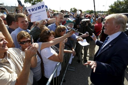 donald trump at campaign ground